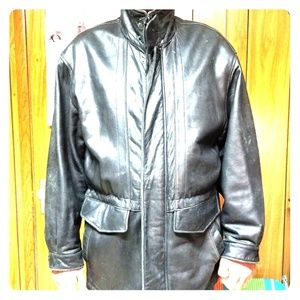 Men's Leather Parka